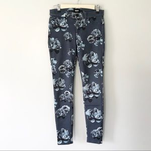 HUDSON Nico Mid Rise Floral Skinny Jeans Size 26